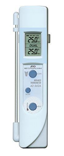 A&D『中心温度センサー付き赤外線放射温度計(AD-5612AMZ)』