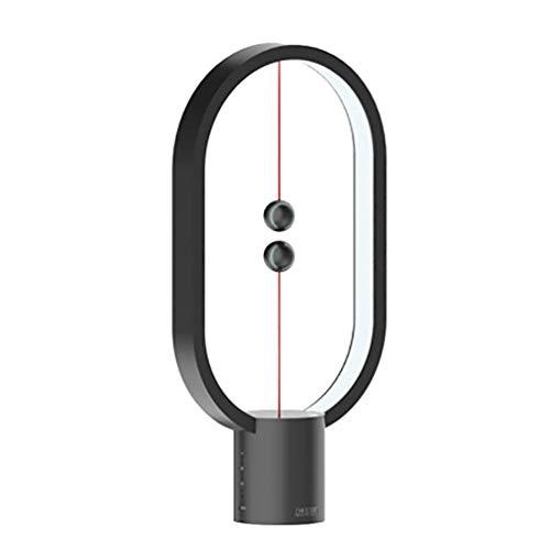 OttoBen Nachttischlampe Magnetischer Kugelschalter Dimmbar USB Tischlampe Kreativ 6 Modi Tragbar Frisches Geschenk für Männer Frauen Jugendliche Kinder Schwarz