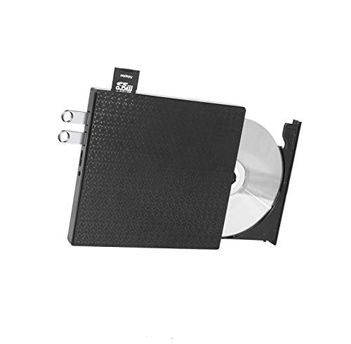 External DVD CD Drive High-Speed USB-C&USB 3.0 CD DVD-RW Player Burner Writer Rewrite Support SD/TF Card/2 USB 3.0 Ports/Charging,Compatible with WriteOS/Windows/MacBook/Laptop/Desktop Computer pc