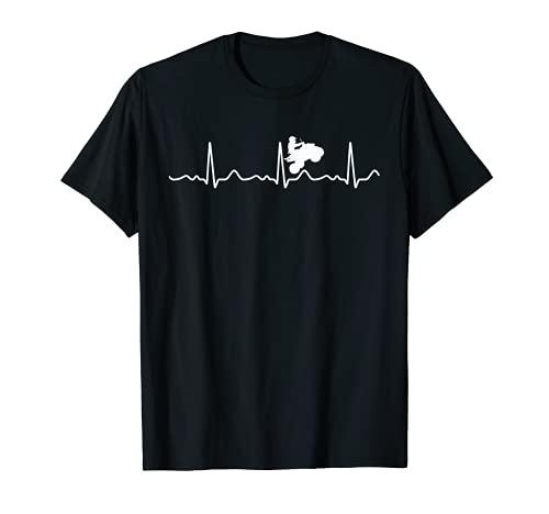 ATV Girl I Love Quad Biking Heartbeat Cuatro Ruedas Regalo Camiseta