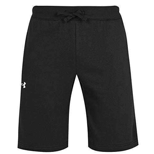 Under Armour Rival Cotton Pantalones Cortos, Negro/Onyx White (001), 38 para Hombre