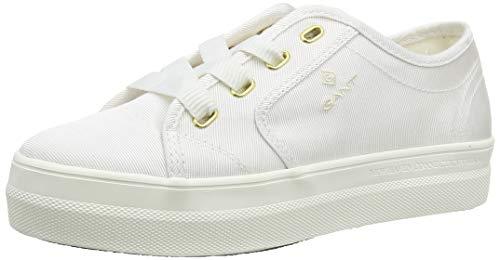 GANT Footwear Damen Leisha Sneaker, Weiß (White G29), 38 EU