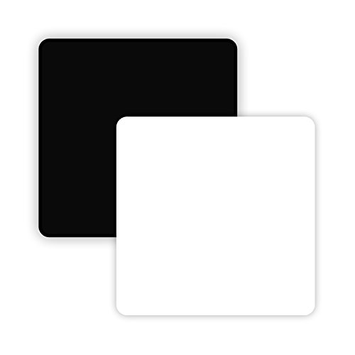 AbleDIY Non Reflective and Reflective Black and White Acrylic Display Boards/Background for Tabletop Product Photography