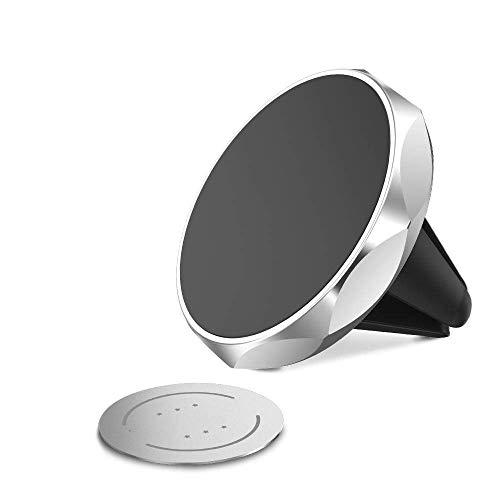 Soporte magnético para teléfono para Coche para Xiaomi Redmi Note 7 Mi 9360 Soporte para Coche con rotación para iPhone X XS MAX 7 8 Soporte para teléfono-Sliver-2
