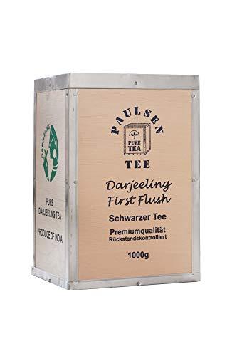 Paulsen Tee Schwarzer Tee Darjeeling First Flush, Ernte 2018, in Teekiste 1000g