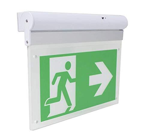 Notleuchte Notausgang Fluchtwegleuchte Notlicht LED ISO7010 selbstleuchtend von MBS-FIRE®