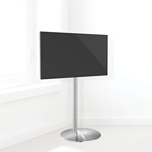 'Cavus – fm120/50s – Support TV Design – Ø 37 cm Pied Rond en Acier Inoxydable – 120 cm Saule Acier Inoxydable – VESA 200 x 200–19 de 32 \