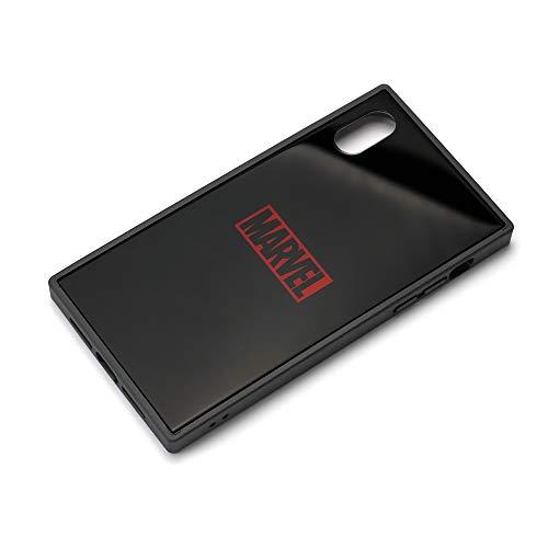 PGA iPhone XR用 ガラスハイブリッドケース MARVEL ロゴ(ブラック) PG-DCS620BK