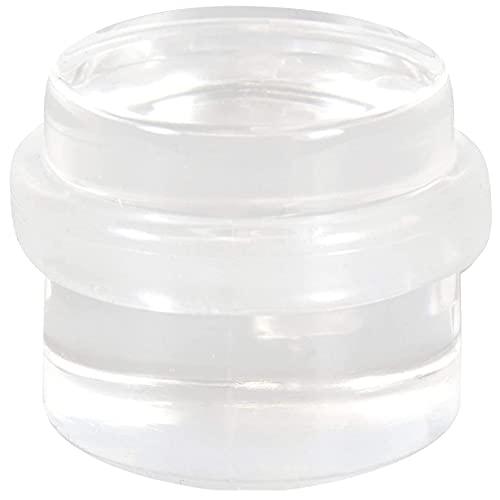 WAGNER Bodentürstopper CLEAR - Durchmesser Ø 38 x 30 mm, hochwertiger Kunststoff, transparent, selbstklebend, rückstandslos entfernbar - 15502911