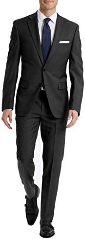 Calvin Klein Men s Slim Fit Suit Separates Solid Charcoal 34W x 30L product image