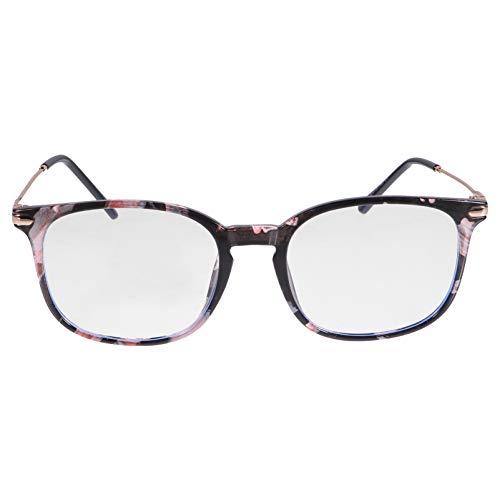 HEALLILY Gafas Cuadradas de Bloqueo de Luz Azul Montura Pequeña Retro Montura de Gafas Antifatiga Gafas de Protección UV Computadora Anti- Anteojos de Luz Azul Diseño Y Color