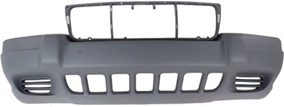 Front Bumper Cover Compatible with 1999-2003 Jeep Grand Cherokee Textured Laredo/Sport Models To 8-1-01
