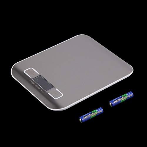 Newgreenca 11lb x 0,05 Unzen dünne LCD-Digital Küchenwaage 5kg x 1g Gewicht-Nahrungsmitteldiät
