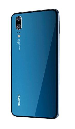 Huawei P20 Smartphone (14,7 cm (5,8 Zoll), 128GB interner Speicher, 4GB RAM, 20 MP Plus 12 MP Leica Dual Kamera, Android 8.1, EMUI 8.1, Dual SIM) Midnight Blue (West European Version) - 5