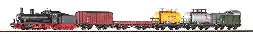 Piko pi57123 Piko-57123-Start-Set Güterzug Dampflok G7 + 5 Wg. Bettung