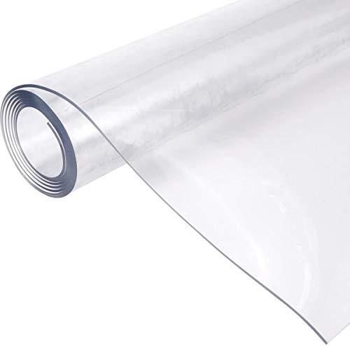 BWBG Manteles Antimanchas 80x80cm, 1mm Mantel Hule Transparente Resistente a Los Arañazos Mantel Mesa Rectangular Plastico Resistente Al Calor Mantel Impermeable