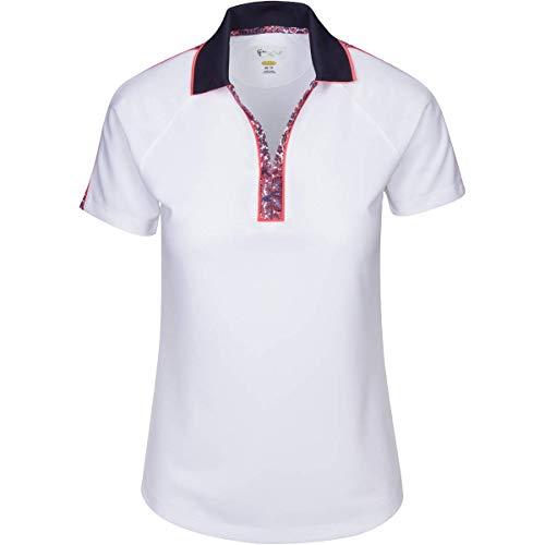 GREG NORMAN Durham Polo à Manches Courtes zippé pour Homme, Homme, Manches Courtes, G2S9K102, Blanc, L