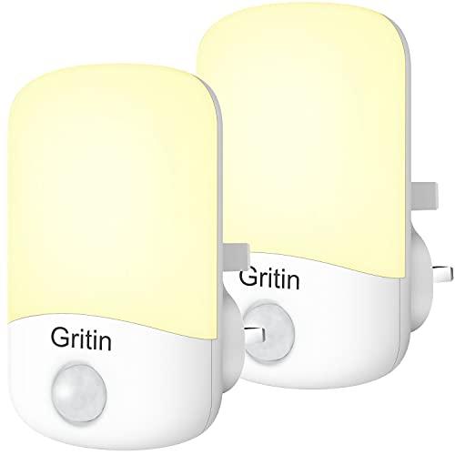 Gritin LED Night Light, [2 Pack] Sleep-friendly Night Lights Plug in Walls...