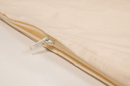 Bio-Perkal, Inlett 40x80cm, mit Reißverschluss, ideal für Selberfüller von Kopfkissen z.B. mit Dinkelspelz, Hirse oder Buchweizenschalen