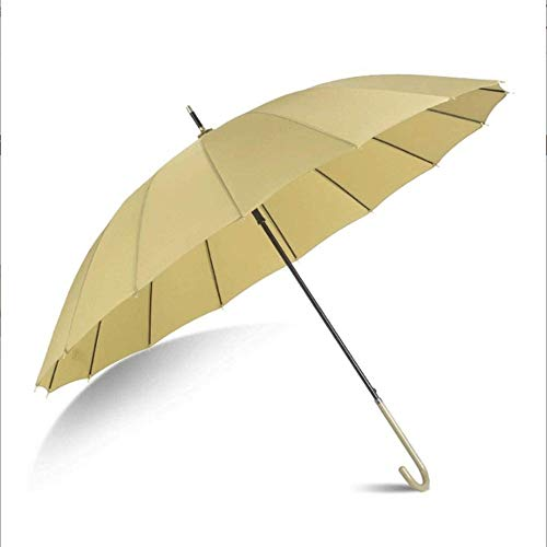 ZJJJD Long Handle Umbrella Large Retro Regenschutz Regenschirm Handtasche Halbautomatisch Open Iron J Stick Schwarz-Matcha_108x85cm Regenschirm Sturmsicher Lightweight Wunderschönen Rutschsicherem