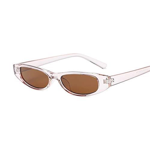 WDFDZSW Blanco Atractivo Rojo pequeño Gato Gafas de Sol del Ojo de la Vendimia de Las Mujeres Negro Gafas de Sol Mujer Damas Cateyes de Gafas de Sol de Cristal Retro (Lenses Color : Trans Brown)