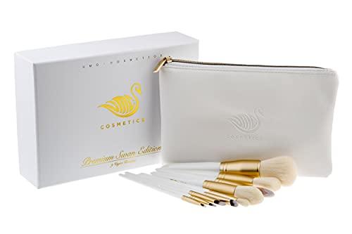 Hochwertige & professionelle Make Up Pinsel Set [handgefertigt] mit Kosmetiktasche von UMC Cosmetics **Geschenkidee**