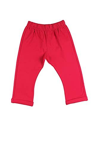 Top Top POCODROLO Pantalones Deportivos, Rojo, 24-36 Unisex bebé