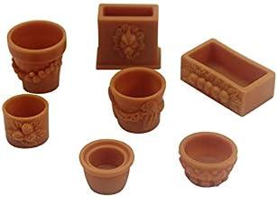 1:12 Dollhouse Miniature Owl Clay Pottery Planter//Miniature Gardening HMN 1437