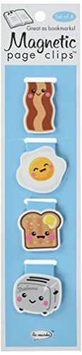 Re-marks Breakfast Treats Magnetic Page Clips, Pack of 4 (43344901)