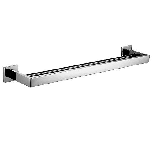 Aothpher 304 en acier inoxydable barre de serviette double couche dans la salle de bains polie Chrome fini porte-serviette, monté sur le mur, 60 * 12.5 * 5.5cm