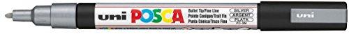 Posca PC-3M Silver Colour Paint Marker Pen 1.5mm Fine Bullet Nib Writes On...