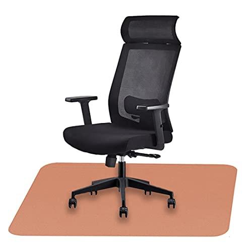Icegrey Stuhlmatte Bodenschutzmatte Bürostuhl Rechteckig Waschbar Rutschfester Bodenschutz für Holzböden und Fliesenböden Orange 59x44cm