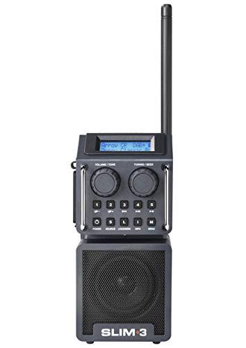 Perfectpro SLIM3 kompaktes Baustellenradio/Outdoorradio mit Bluetooth, USB und SD-Leser, UKW, DAB+, RDS