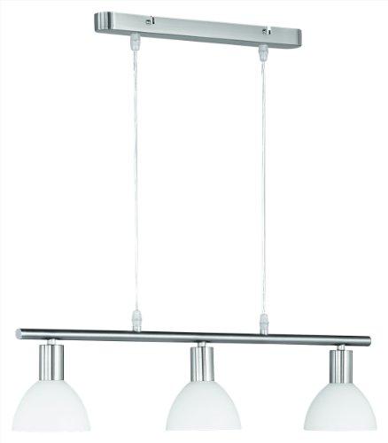 KHL LED Pendelleuchte 3x4W 2700k 61cm Nickel Matt / Glas Opalfarbig Weiß 335110