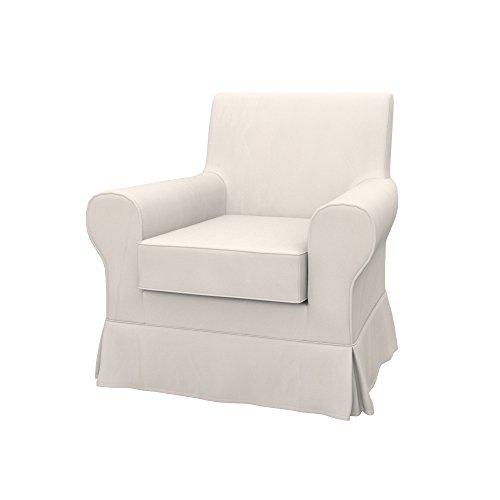 Soferia Funda de Repuesto para IKEA EKTORP JENNYLUND sillón, Tela Eco Leather Light Beige, Gris