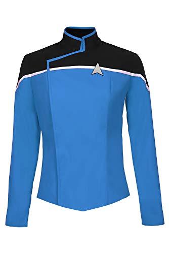 Fortunezone Star Trek: Lower Decks Blau Uniform Oberteil Cosplay Kostüm M