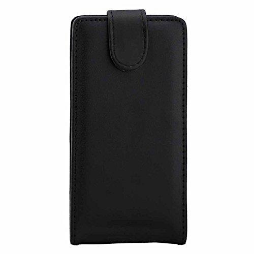 Ebogor para Para Huawei P9 PLANCE Texture Caja de Cuero Vertical Flip Bolsa de Cintura con Hebilla magnética (Negro) Caso (Color : Black)