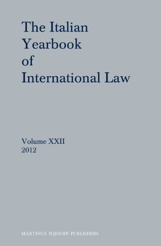 The Italian Yearbook of International Law 2012