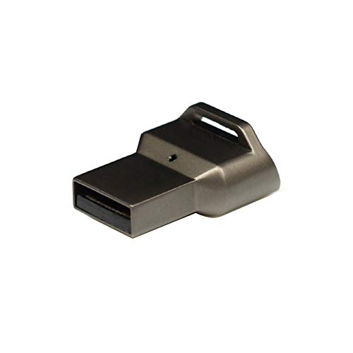 Cicony USB Fingerabdruckleser, Laptop, PC, Mini, Sicherheitsverriegelung, Verbindungsschlüssel für Windows 10, Schwarz , Einheitsgröße