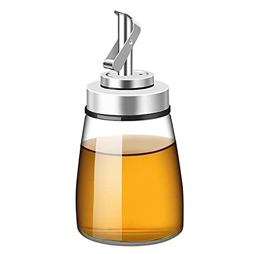 Botella dispensador de aceite de oliva automática cono aceite pote aceite y vinagre a prueba de fugas de vidrio aceite de cocina cruet para cocina 180 ml