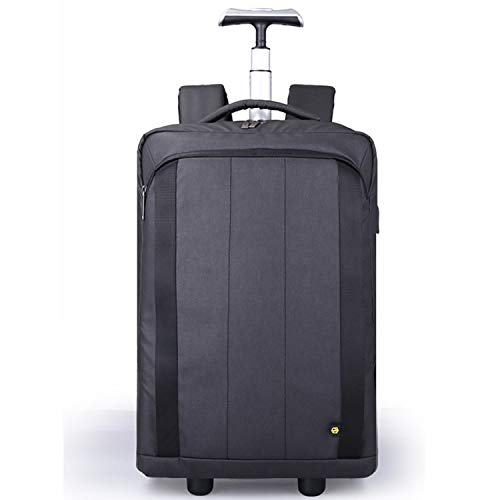 DAGUO Rolling Laptop Bag with Wheels,Fits Up to 17.3-Inch Laptop,Travel Friendly Wheeled Briefcase for Women and Men with Telescoping Handle-Black,Black