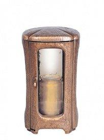 serafinum romantique Bronze Lanterne Funéraire – laudania, marron foncé, 23x13x13cm (HxBxT)