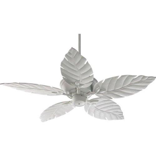 Quorum International 135525-8 Monaco Patio Ceiling Fan with Decorative Studio White ABS Blades, 52-Inch, Studio White Finish