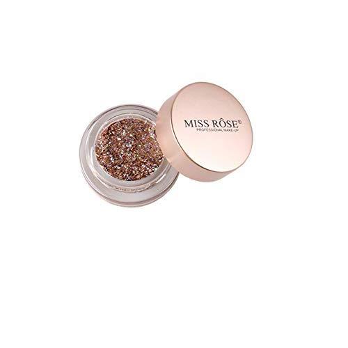 MISS ROSE Maquillage Glitter 10 Couleurs Crème Glitter Holographique Chunky pour le Visage, Ombre à paupières Liquide Liquide Corps Haute