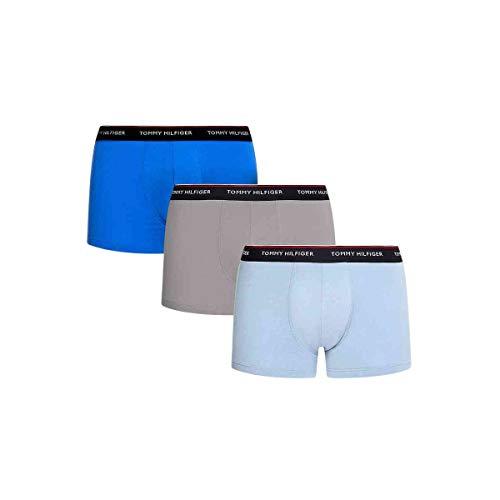 Tommy Hilfiger 3P Trunk Bañadores Ajustados para Hombre, Azul eléctrico/Azul Luna/Sublunar, L