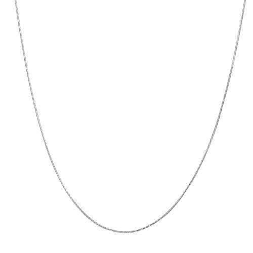 Happiness Boutique Damen Kette Silberfarbe | Filigrane Halskette Minimalist Schmuck Edelstahl