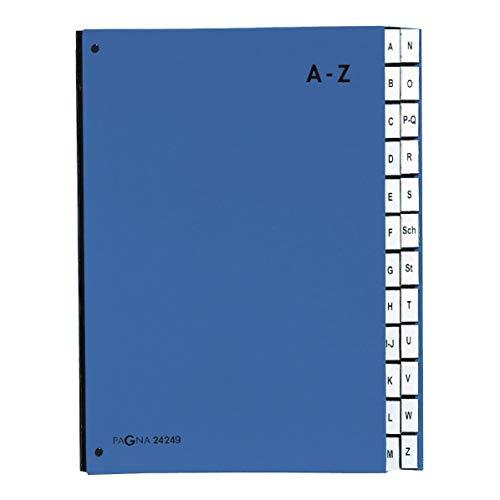 Pagna Pultordner Color (Pultmappe, 24 Fächer, A-Z) blau