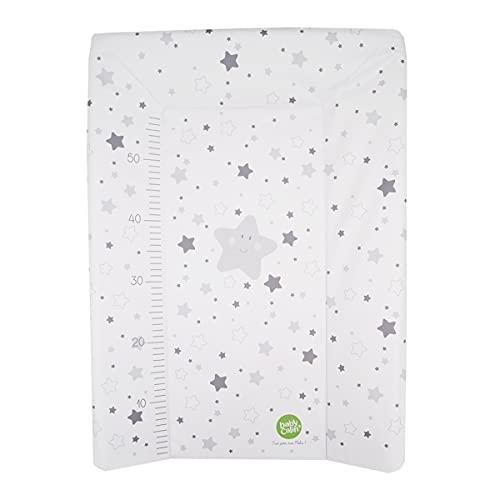 BabyCalin BBC510713 Luxus Wickelunterlage, 50cm x 70cm, Graue Sterne, grau, 1 Stück