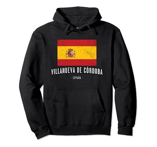 Villanueva de Córdoba España   Souvenir - Ciudad - Bandera - Sudadera...