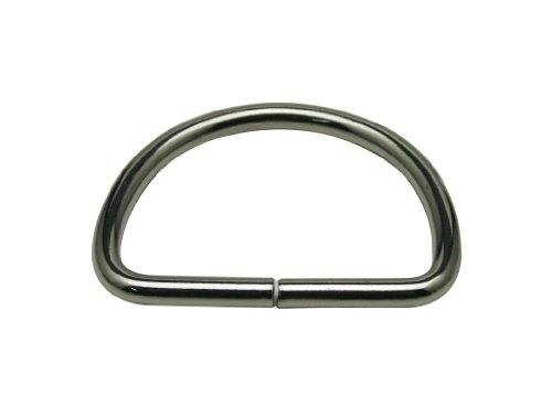 Generic Metal Silvery Big Size D Ring Buckle D-Rings 2 Inches Inside Diameter Lage Size for Backpack Bag Pack of 6